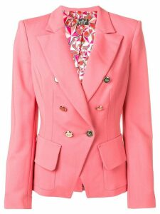 Elisabetta Franchi double breasted blazer - Pink