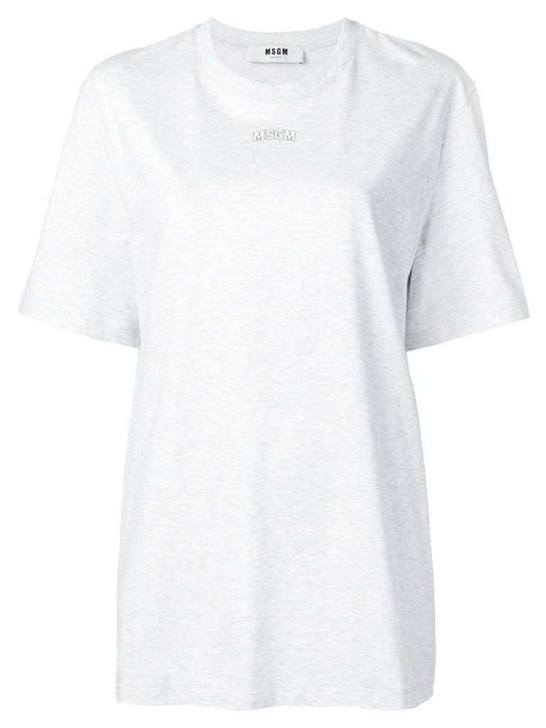 MSGM logo printed T-shirt - Grey