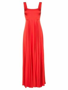Solace London Naie satin maxi-dress - Red
