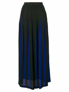 Pierantoniogaspari two-tone pleated skirt - Black
