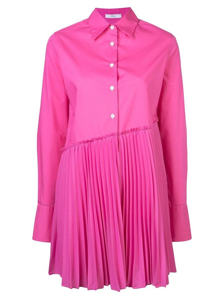 Tome pleated long-sleeve shirt - Pink