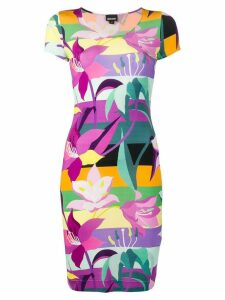 Just Cavalli floral print T-shirt dress - Purple