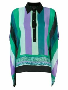 Just Cavalli striped ruffle shirt - Green