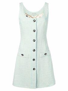 Alessandra Rich sleeveless tweed dress - Green