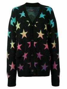 Amiri loose-fitting star cardigan - Black