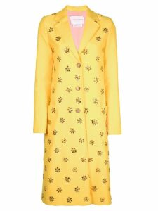 Carolina Herrera embellished coat - Yellow