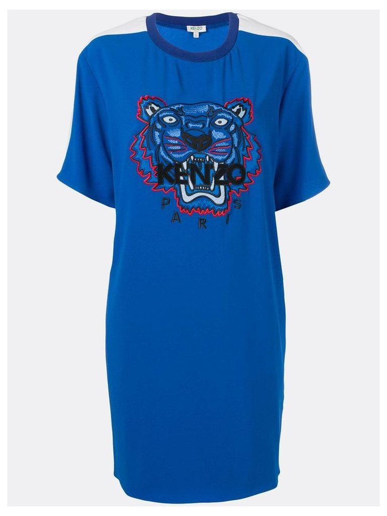 Kenzo crepe Tiger dress - Blue