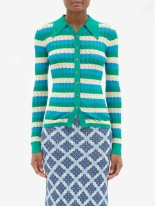 Gabriela Hearst - Browning Ribbed Cashmere Blend Sweater - Womens - Burgundy Multi