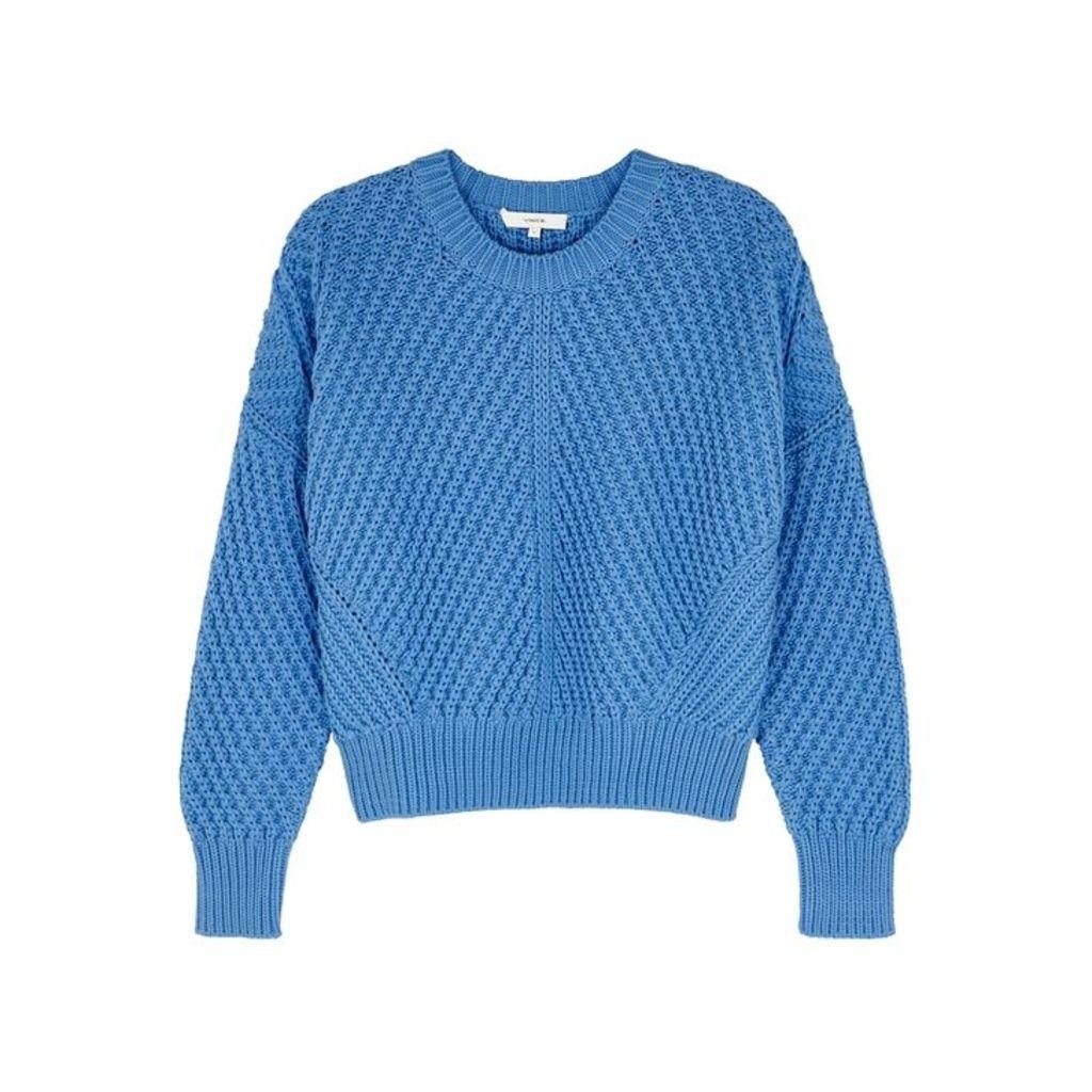 Vince Cornflower Chunky-knit Cotton-blend Jumper