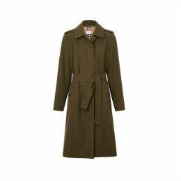 Burberry Tropical Gabardine Belted Car Coat