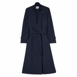 Vince Navy Twill Coat
