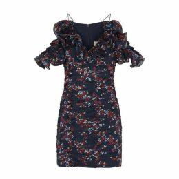 KEEPSAKE Embrace Floral-print Chiffon Mini Dress