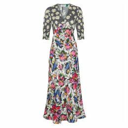 RIXO Zadie Printed Satin Dress