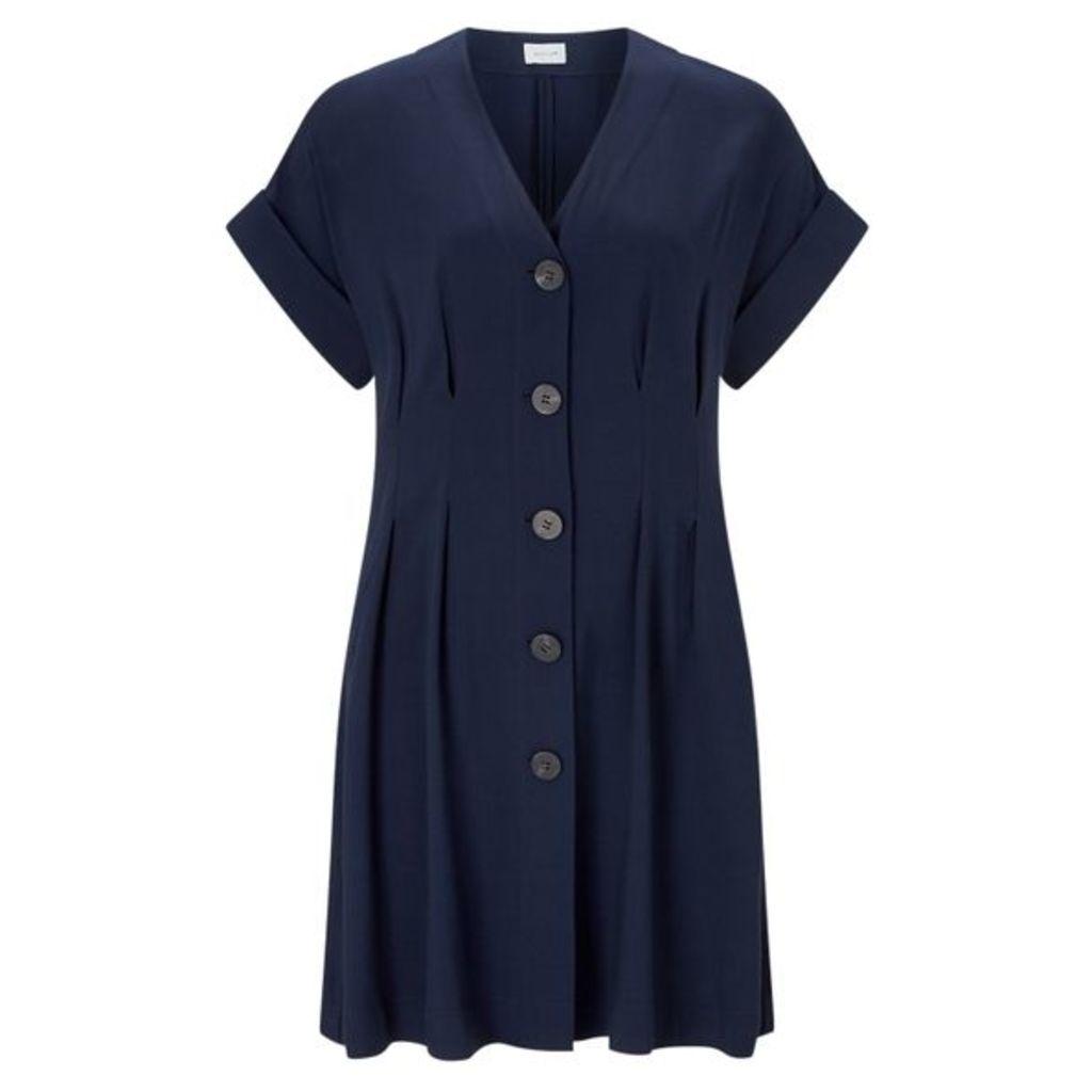 Jigsaw Twill Button Front Dress