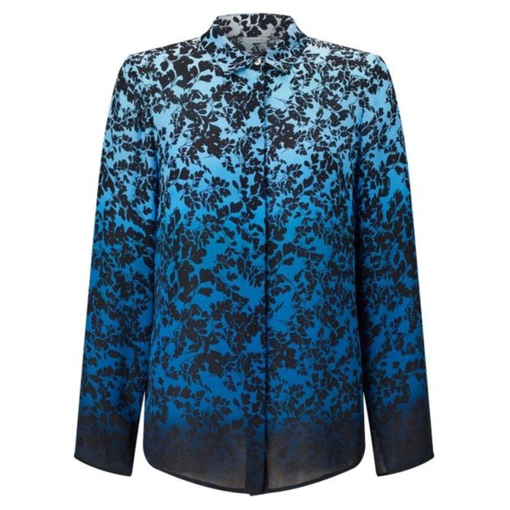 Jigsaw Sunset Floral Silk Shirt