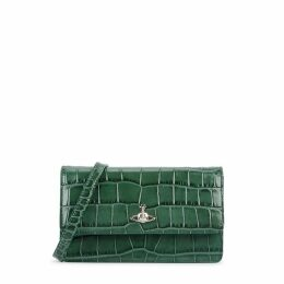 Vivienne Westwood Lisa Crocodile-effect Leather Shoulder Bag