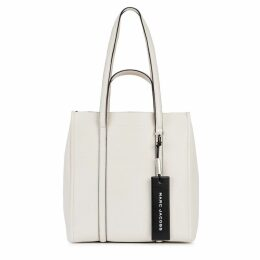 Marc Jacobs The Tag Tote 27 Ivory Leather Bag