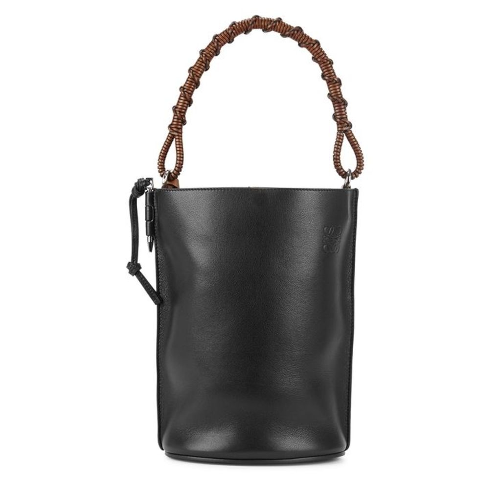 Loewe Black Leather Bucket Bag