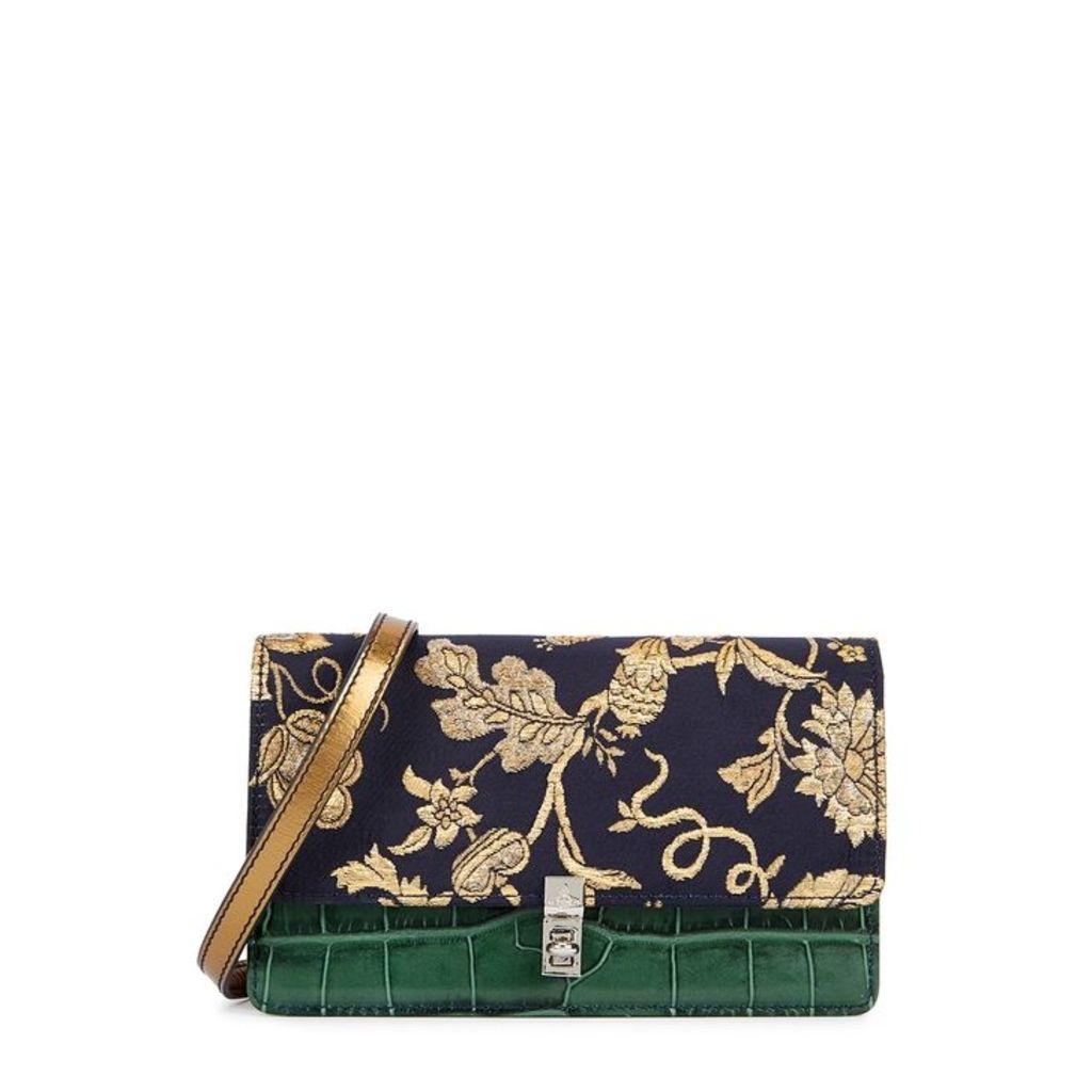 Vivienne Westwood Elizabeth Brocade And Leather Shoulder Bag