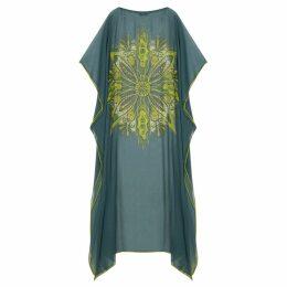 GISY - Tree Mandala Silk Georgette Kaftan No.10