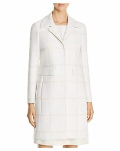 Elie Tahari Orla Windowpane-Pattern Coat