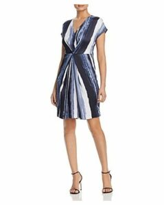 Kenneth Cole Printed Origami Pleat Dress