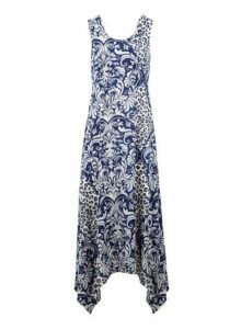 Womens *Izabel London Navy Animal Print Maxi Dress- Navy, Navy
