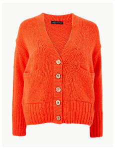 M&S Collection Cotton Rich Textured Cardigan