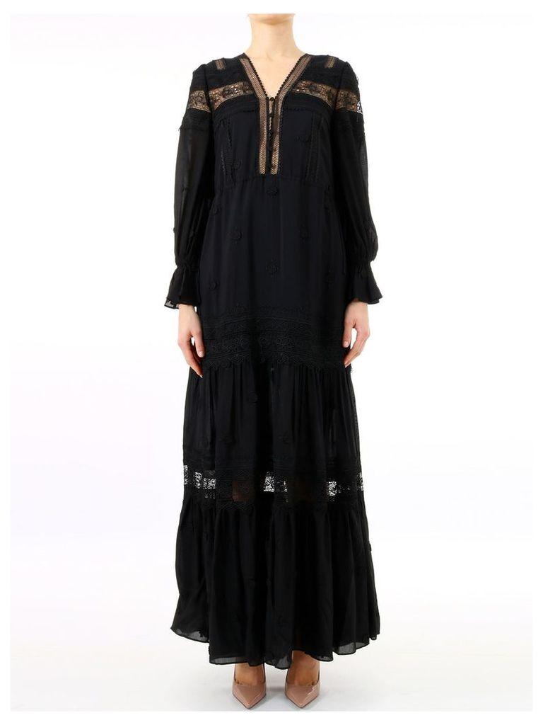 self-portrait Maxi Dress 3d Black