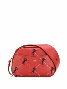 Chloé horse print belt bag - Red