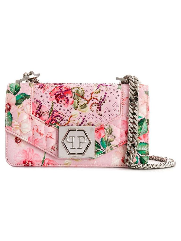 Philipp Plein Flowers shoulder bag - Pink