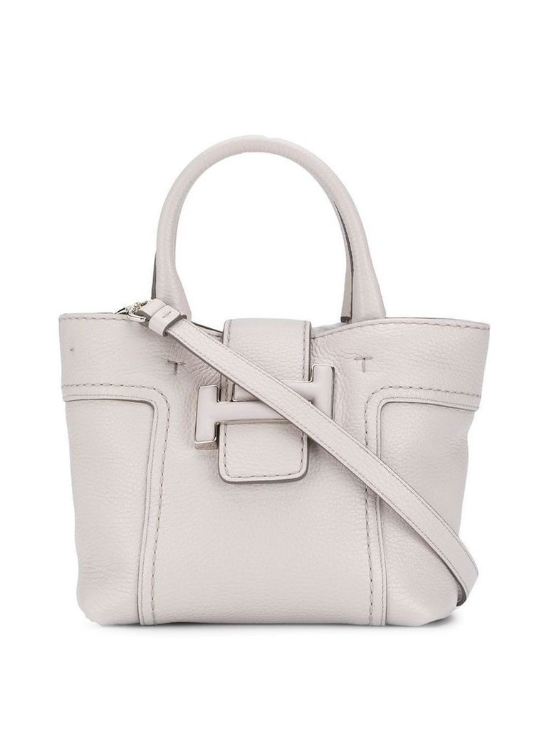 Tod's double T shoulder bag - Grey