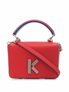 Kenzo logo cross body bag - Red