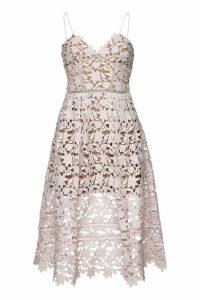 Self-Portrait Azaelea Midi Dress with Lace