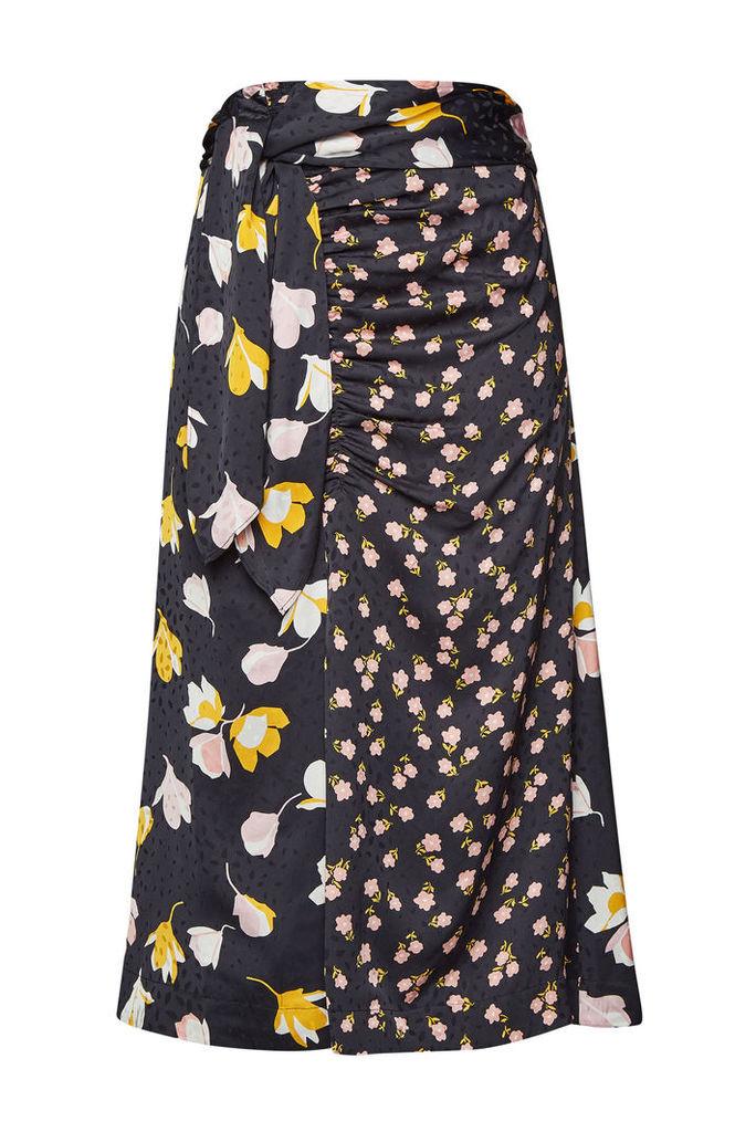 Self-Portrait Floral Wrap Skirt