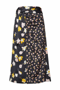 Self-Portrait Floral Wrap Skirt