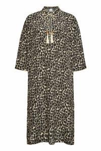 Max Mara Nizza Printed Silk Dress with Tassel Ties