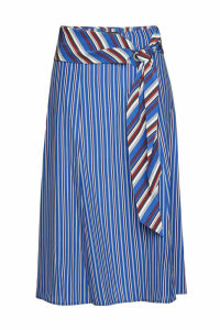 Rag & Bone Felix Striped Silk Midi Skirt