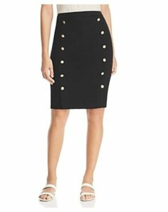 Calvin Klein Button-Trimmed Pencil Skirt
