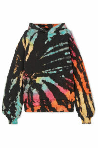 AMIRI - Oversized Tie-dye Cotton-jersey Hoodie - Black