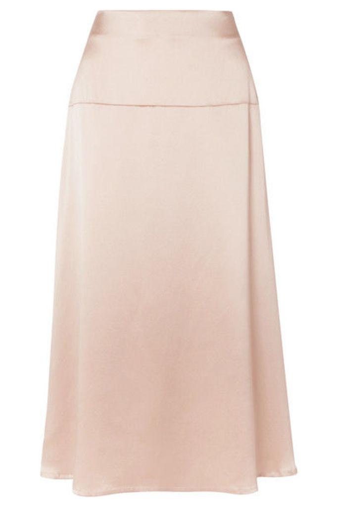 La Collection - Alara Silk-satin Midi Skirt - Pink