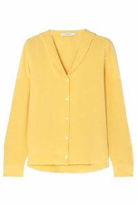 La Collection - Arlette Silk Crepe De Chine Blouse - Yellow