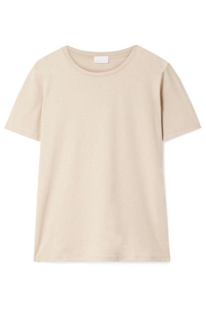 Handvaerk - Pima Cotton-jersey T-shirt - Beige