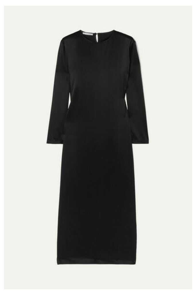 La Collection - Jacqueline Silk-satin Midi Dress - Black