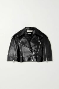 Prada - Feather-trimmed Silk-georgette Skirt - Light blue
