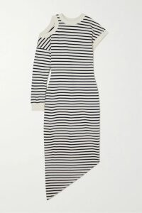 ARIAS - Ruched Silk-charmeuse Maxi Dress - Blue