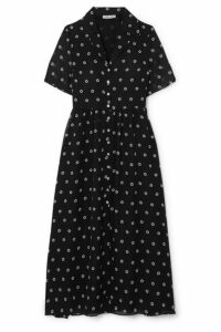 Sandy Liang - Picasso Floral-print Georgette Dress - Navy