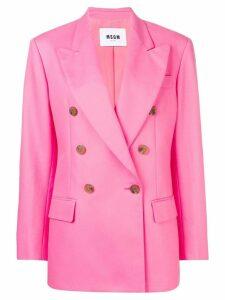 MSGM pink formal blazer
