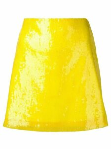 Alberta Ferretti yellow sequin skirt