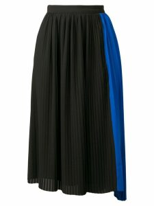 Kenzo pleated asymmetric skirt - Black